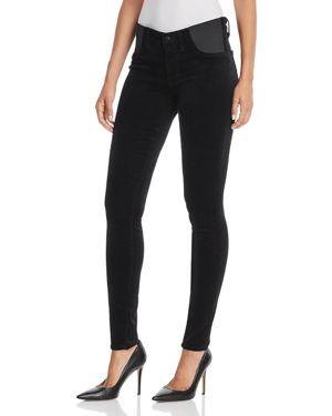 J BRAND MATERNITY Mama J Super Skinny Velvet Maternity Jeans In Black