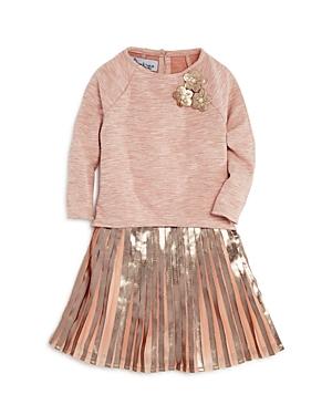 Pippa  Julie Girls HighLow Top Metallic Dress  Bloomers Set  Little Kid