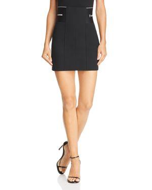 Alexanderwang.T Black Stretch Suiting Miniskirt