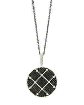 "Freida Rothman - Industrial Pave Pendant Necklace, 27"""