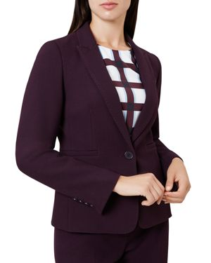 Viviene Tailored Blazer, Aubergine
