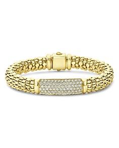 LAGOS - 18K Yellow Gold Caviar Gold Pavé Diamond Bead Bracelet