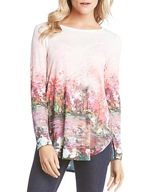 Karen Kane Floral Print Shirttail Tee
