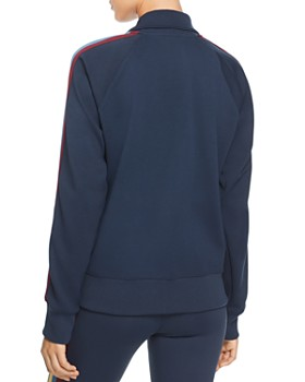 Spiritual Gangster - Striped-Sleeve Track Jacket