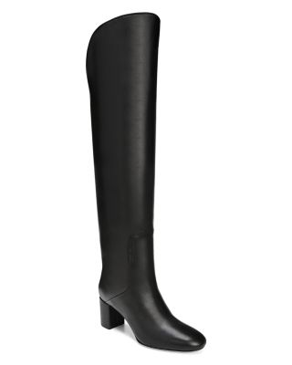 Women's Nair Almond Toe Leather Mid Heel Boots by Via Spiga