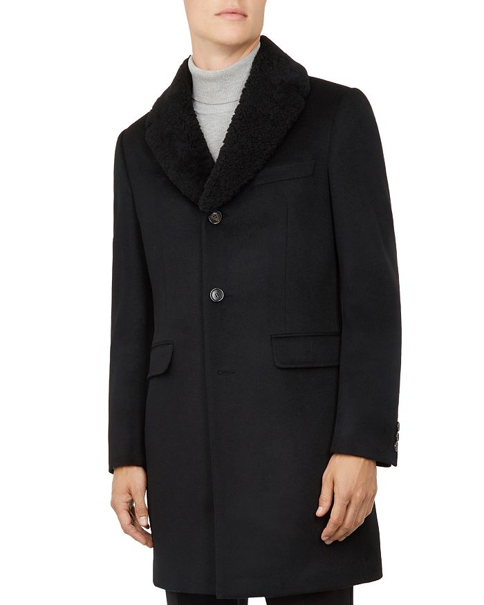 Ted Baker - Squish Shearling Collar Overcoat