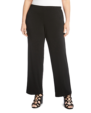 Karen Kane Plus Crepe Straight-Leg Pants