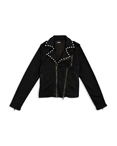 Hudson - Girls' Stud Detail Moto Jacket, Big Kid - 100% Exclusive