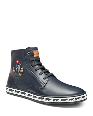 Bally Men's Alpistar Embroidered Leather High Top Sneakers
