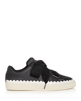 fb45fb7e7276 ... PUMA - Women s Basket Heart Scalloped Leather Lace Up Sneakers