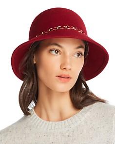 August Hat Company - Feelin It Chain-Trim Wool Cloche