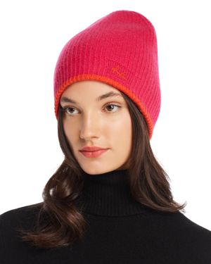 Yorke Cashmere Beanie - Pink, Pink/Red