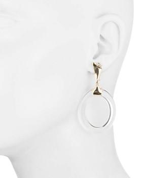 Alexis Bittar - Liquid Metal Lucite & Crystal Loop Drop Earrings