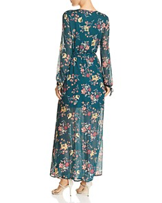 Band of Gypsies - Floral Print Maxi Wrap Dress