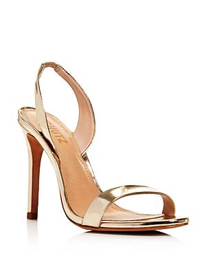 Schutz Women's Luriane Slingback High-heel Sandals In Platina Leather