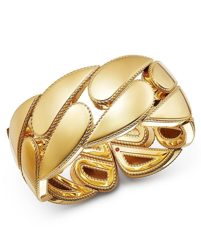 Roberto Coin - 18K Yellow Gold Gourmette Cuff Bangle