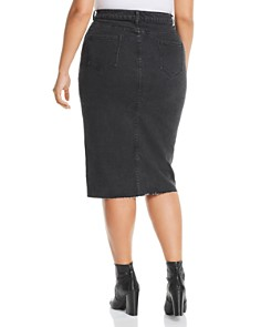 Lost Ink Plus - Denim Pencil Skirt