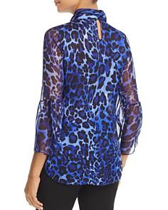 Elie Tahari - Laraib Leopard-Print Silk Blouse