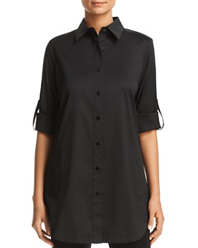 Misook - Button-Down Tunic Top