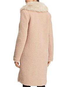 Bernardo - Faux Shearling Coat with Faux Fur Collar