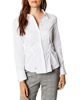 KAREN MILLEN - Ruched Drawstring Shirt