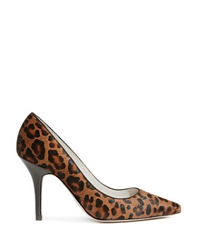 KAREN MILLEN - Women's Leopard Print Calf Hair High-Heel Court Pumps