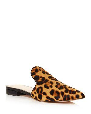 RACHEL ZOE Women'S Natalie Leopard Print Calf Hair Mules