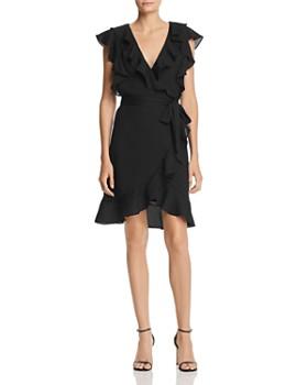 Lucy Paris - Faux-Wrap Ruffle Dress