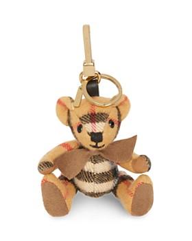 Burberry - Thomas Cashmere Check Bear Charm