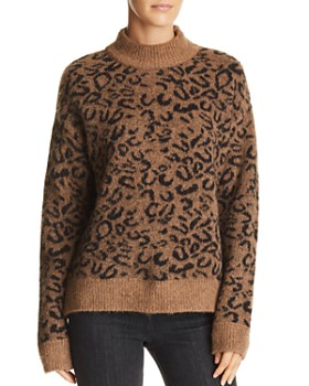 John and Jenn - Xavier Leopard-Print Sweater