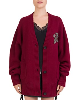 The Kooples - Merino Wool Fleur-de-Lis Cardigan
