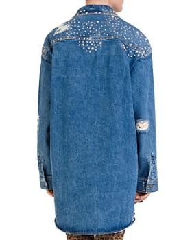 The Kooples - Studded Distressed Denim Shirt