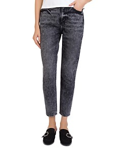 The Kooples - Sequin-Hearts Cropped Jeans in Washed Black