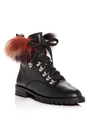 Rebecca Minkoff Women's Jaylin Fox Fur Booties