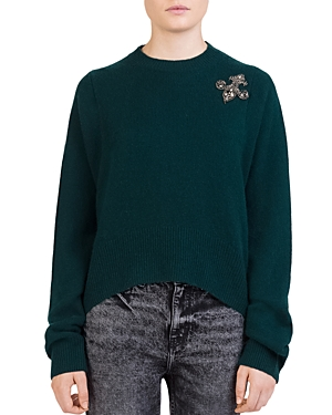 The Kooples Cashmeres JEWELED CASHMERE SWEATER