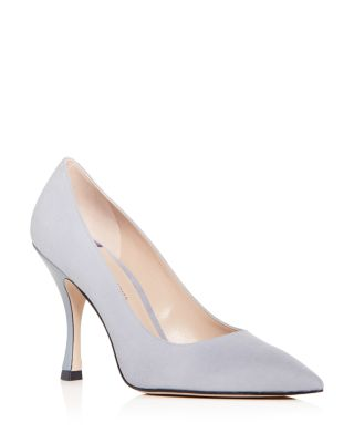 Women's Tippi Suede Pointed Toe Pumps by Stuart Weitzman