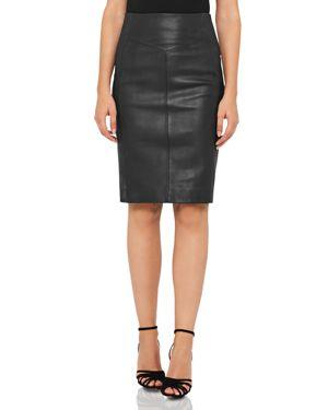 Reiss Megan Leather-Front Skirt