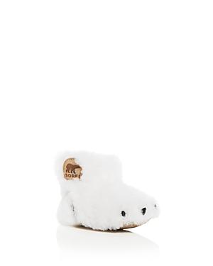 Sorel Girls' Shearling Bear Paw Slippers - Baby