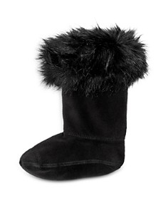 Hunter - Girls' Faux-Fur Cuff Boot Socks - Little Kid, Big Kid