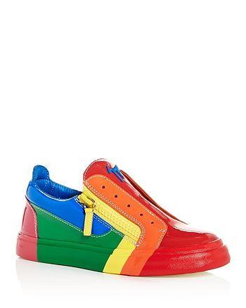 3fb4555ed65e4 Giuseppe Zanotti Women's Rainbow Leather & Patent Leather Sneakers ...