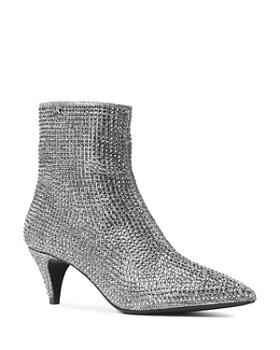 MICHAEL Michael Kors - Women's Blaine Embellished Flex Kitten Heel Booties
