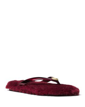 Michael Michael Kors Women's Jet Set Jelly & Faux-Fur Flip-Flops 3085424