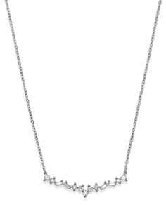 Bloomingdale's - Diamond Geometric Bar Necklace in 14K White Gold, 0.20 ct. t.w. - 100% Exclusive
