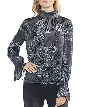 Vince Camuto Woodland Floral Flare Sleeve Top