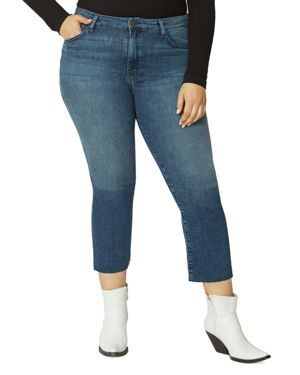 Sanctuary Curve Modern High-Rise Crop Jeans in District Blue 3081867