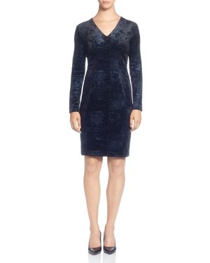 T Tahari Foil Print Velour Dress