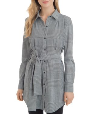 LYSSÉ Schiffer Glen Plaid Tunic