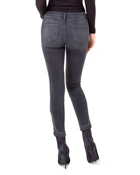Liverpool - Kayden Studded Skinny Ankle Jeans in Silver