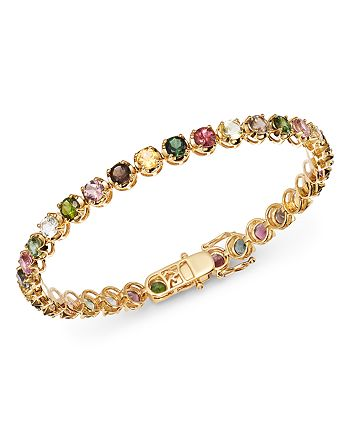 Bloomingdale's - Multicolored Tourmaline Bracelet in 14K Yellow Gold - 100% Exclusive