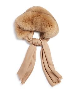 Max Mara - Fox Fur-Trim Cashmere Scarf